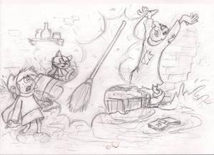 The Sorcerer's Apprentice (Sketch)