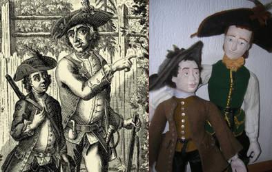 Marionettes: Bayerischer Hiasl with Bub