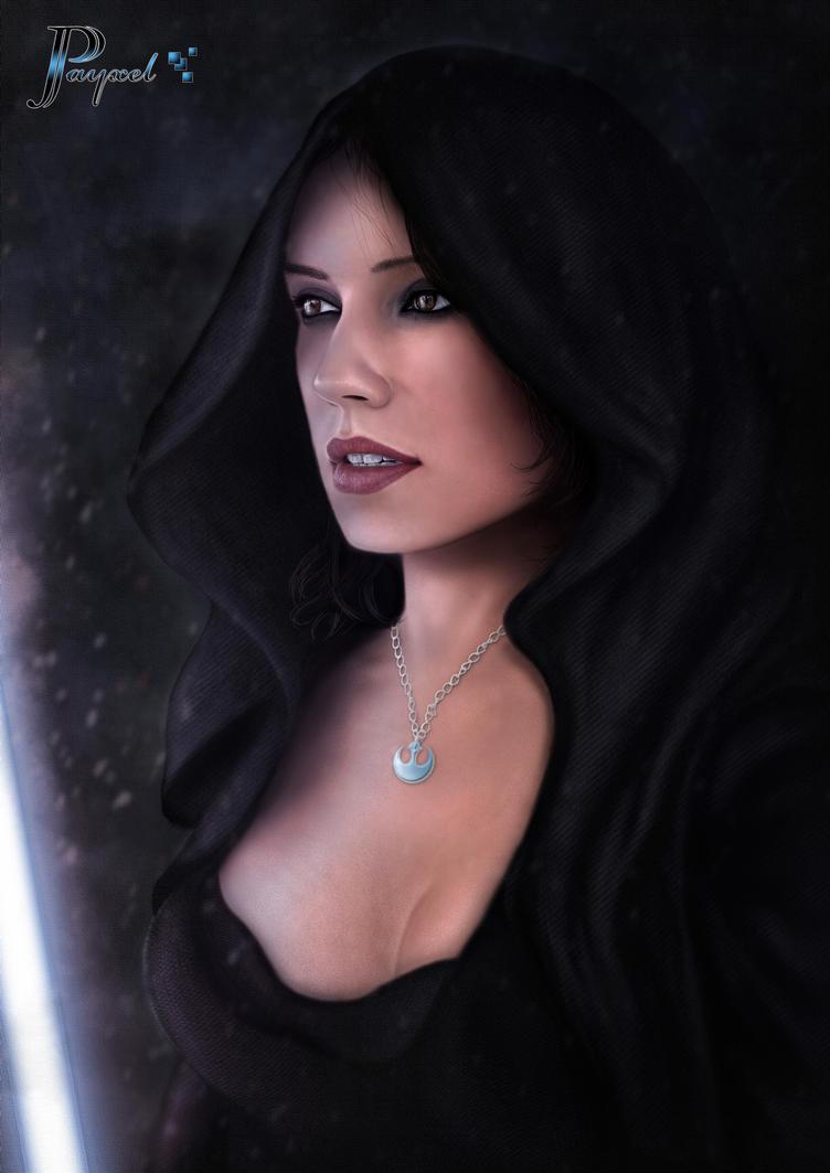 Jedi Rey. Star Wars by JPayxel