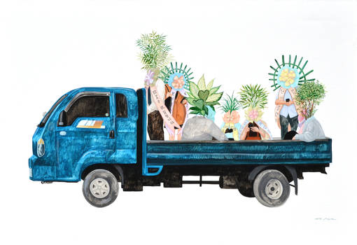 Delivery in progress-Truck (Artist Kim So Ra)