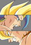 Goku and Broly Face Off Ver1