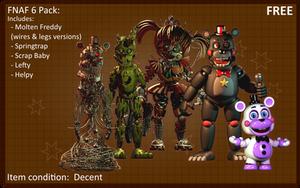 Fnaf 6 Pack (C4d Blender Release) by 3D-Darlin