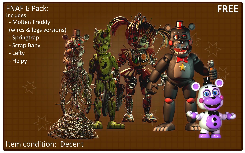 Fnaf 6 Pack (C4d Blender Release) by 3D-Darlin on DeviantArt
