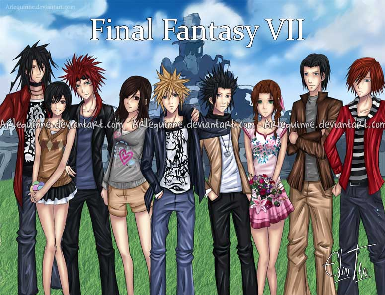 Final Fantasy 7 Anime Characters : Final fantasy vii by elintan on deviantart