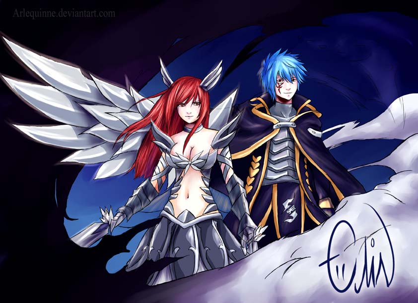 Erza + Jellal: Light my darkness by Arlequinne