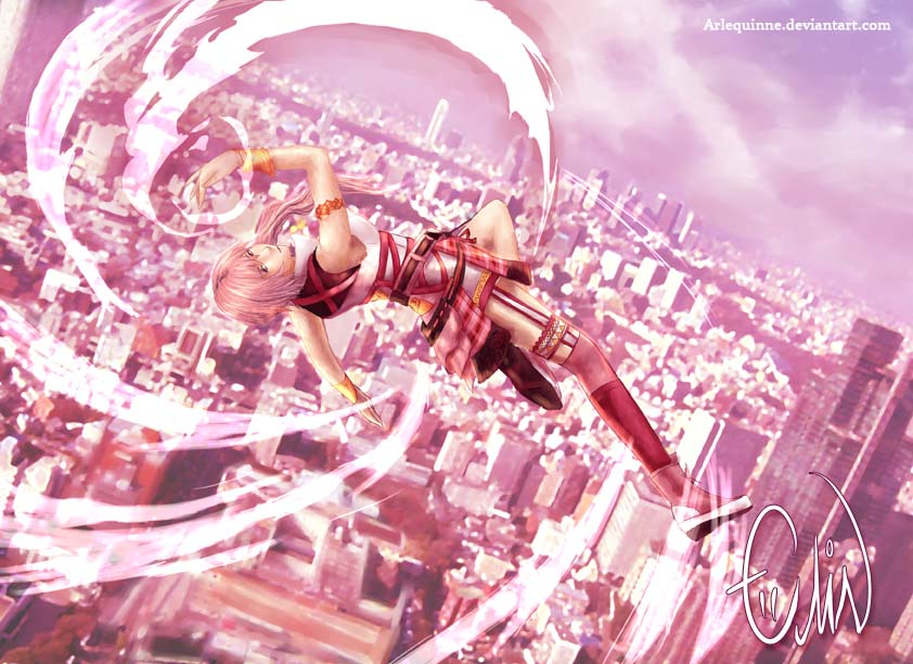 Serah - Sky high by ElinTan