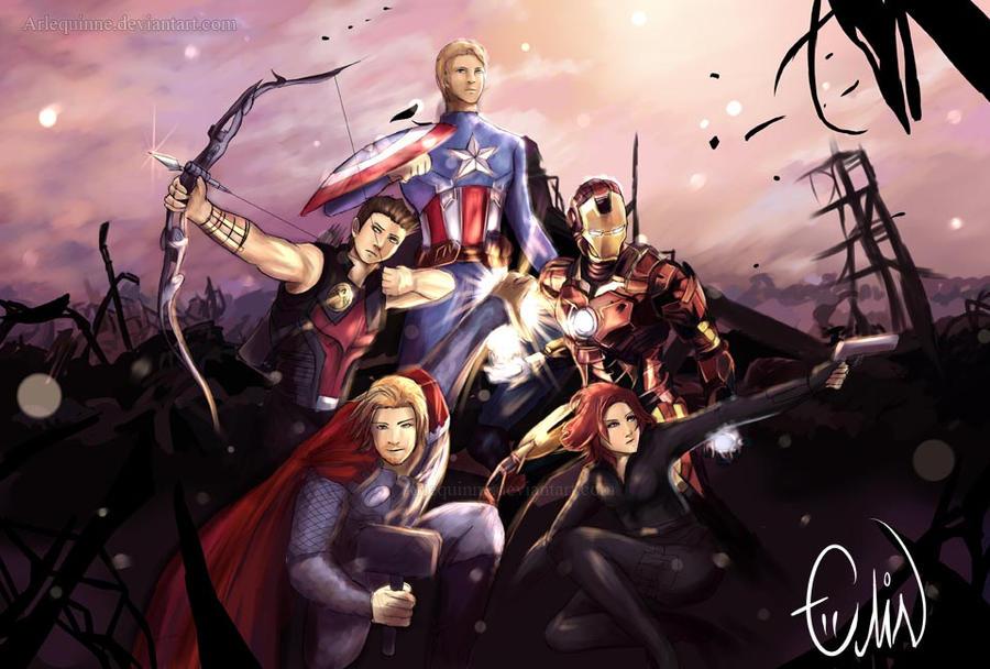 Avengers by Arlequinne