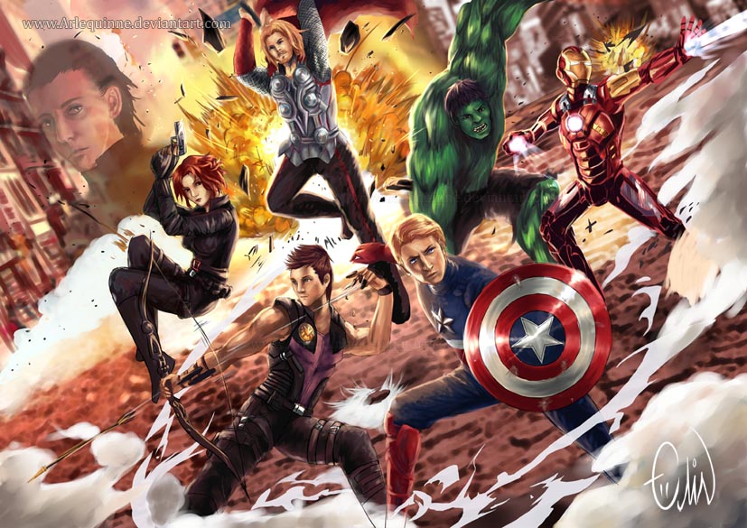 Avengers Assemble by Arlequinne