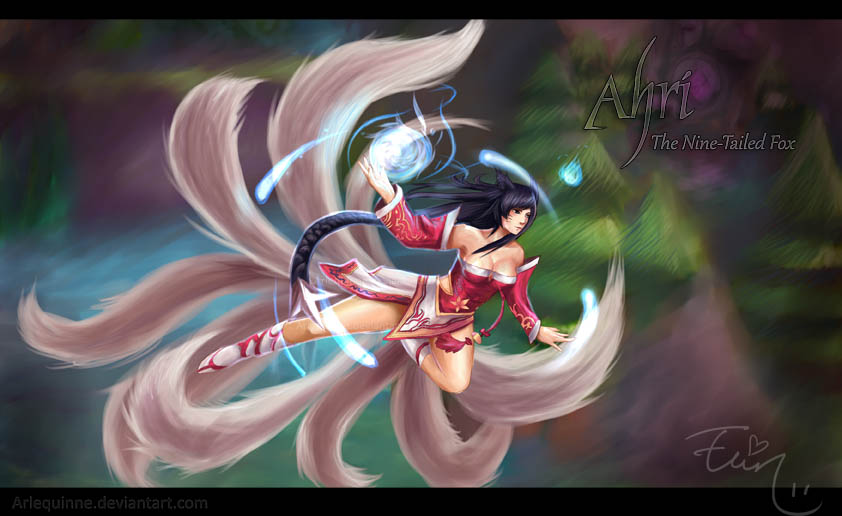 League of Legends - AHRI by Arlequinne