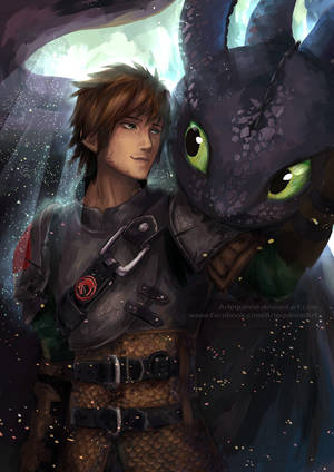 Inseparable - Hiccup and Toothless by ElinTan