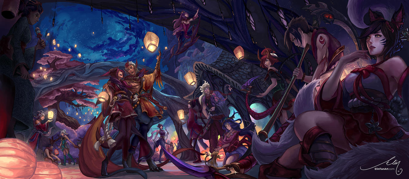 Festival of Fire - Blood Moon by ElinTan