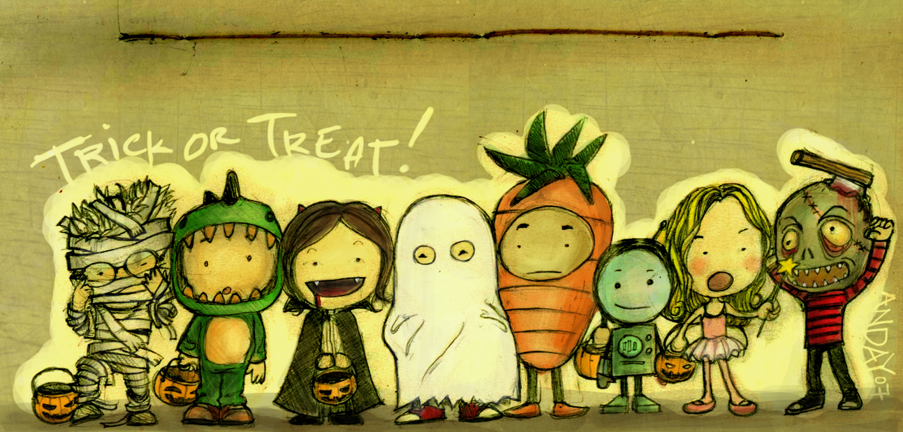 Image result for trick or treat clip art