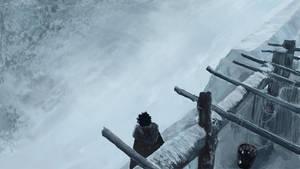 Jon Snow at The Wall