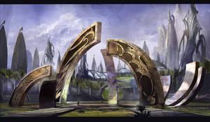 'Mystical Alien Sculptures' concept