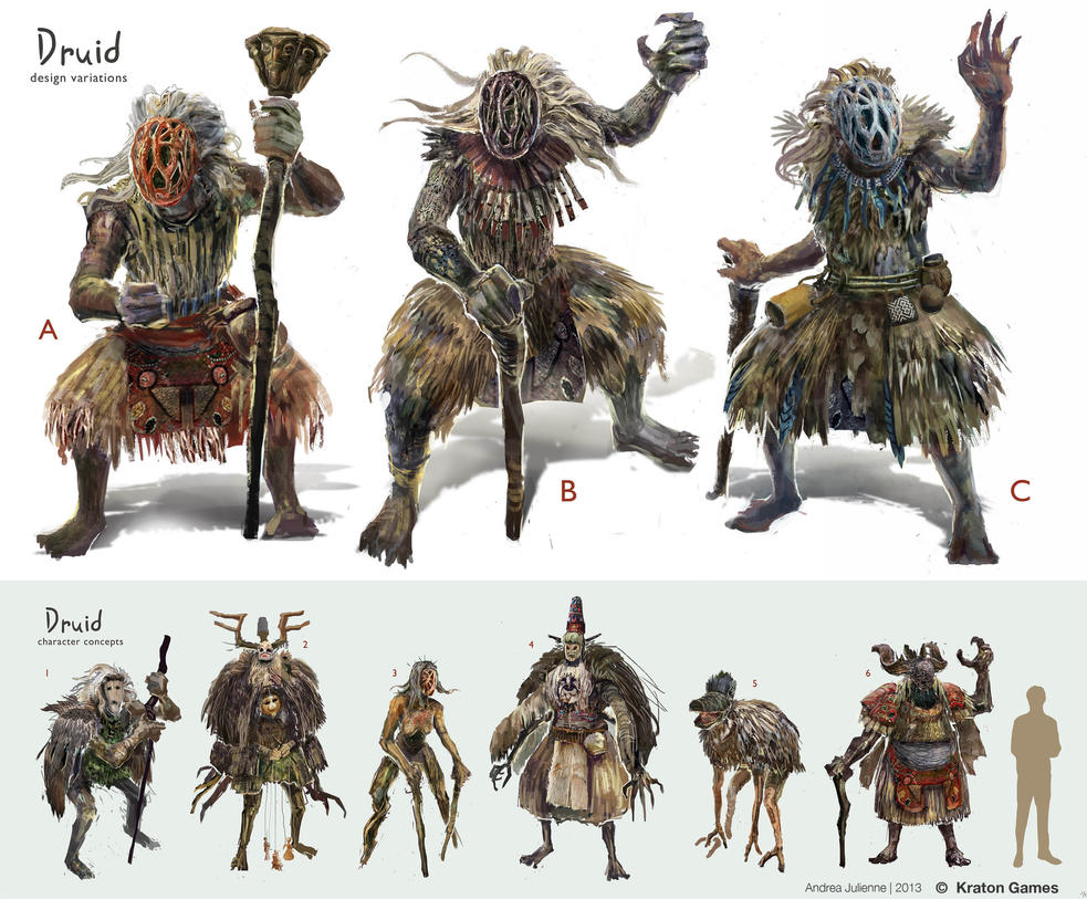 Druid Concept Design Sheet by Anday