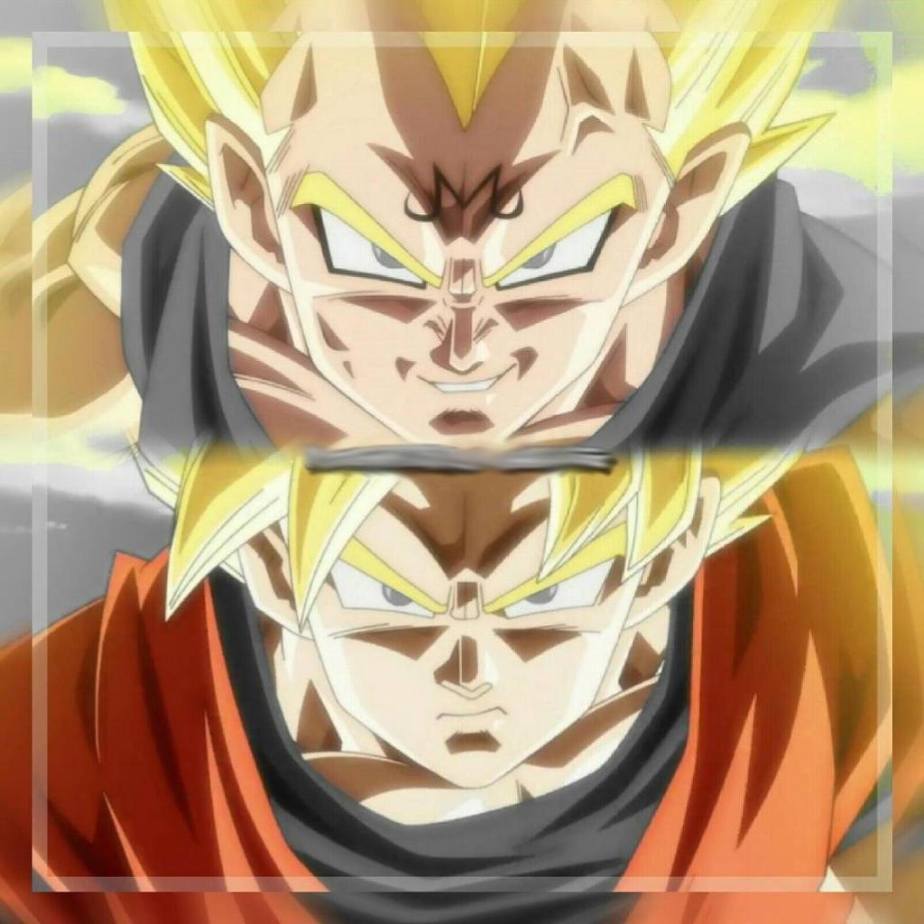 Goku Vs Majin Vegeta By Lucario Strike