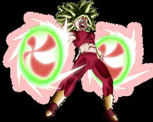 Kefla ssj2 Power Spinner by lucario-strike