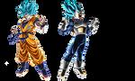 Goku y Vegeta SSJBLUE MOVIE 2018