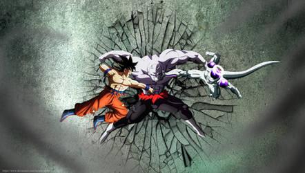 La ultima batalla - ultimate battle jiren vs goku by lucario-strike