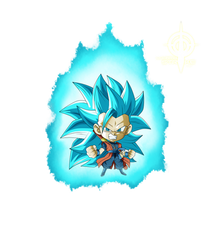Goku Xeno SSJ BLUE CHIBI by lucario-strike