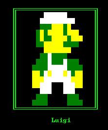 8 bit Luigi -DOS Style- by guialex