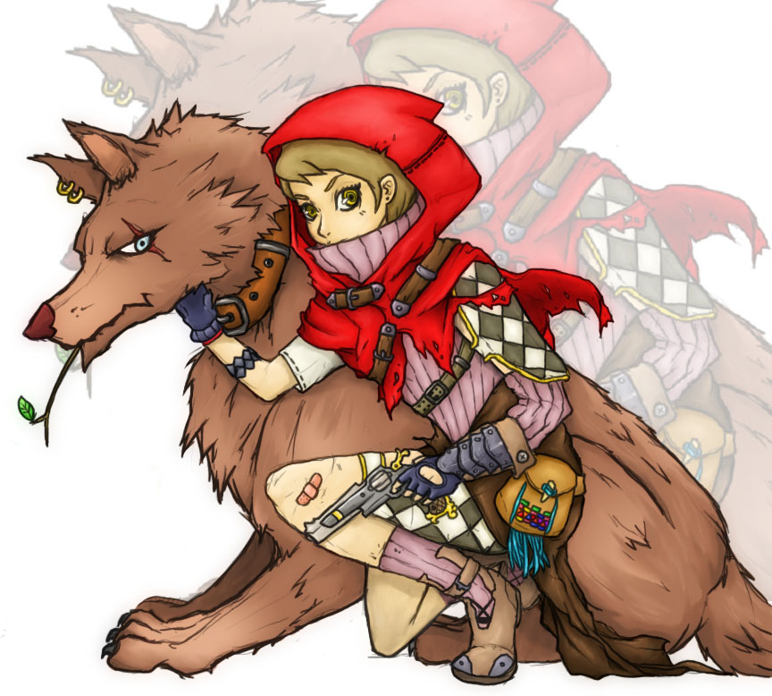 little red riding hood by mono22chrome