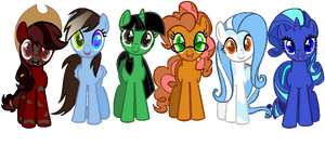 .:DOLL:. My Mane 6 As the Show's Mane 6.