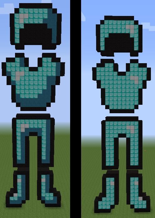 Diamond Armor Minecraft Pixel Art By Silvertail108 On Deviantart