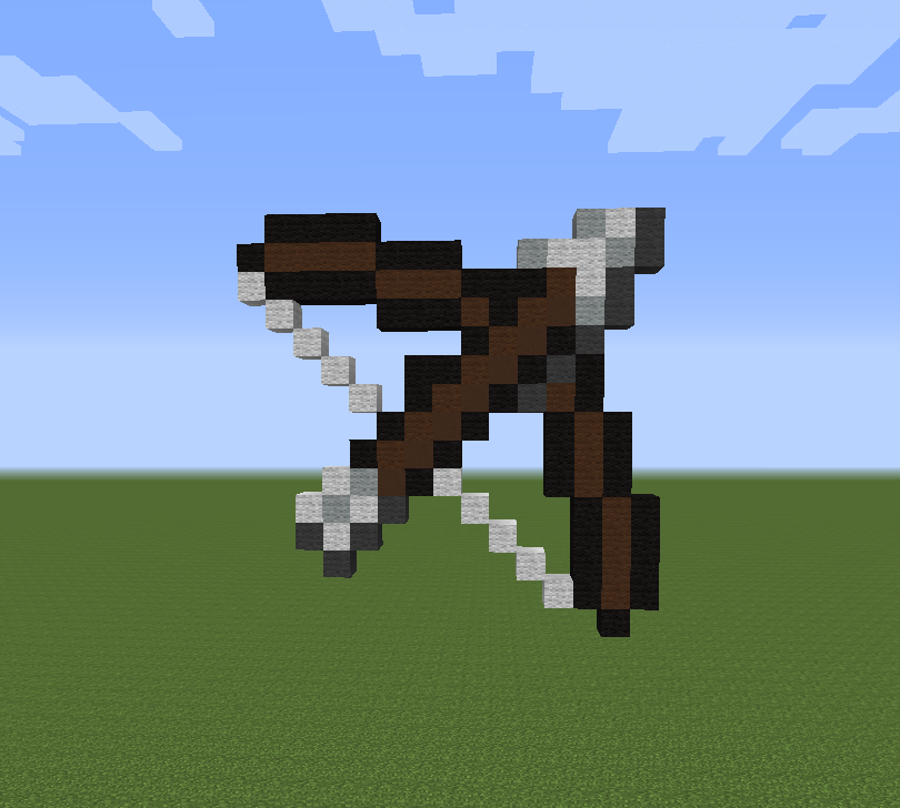 Bow And Arrow Minecraft Pixel Art By Silvertail108 On