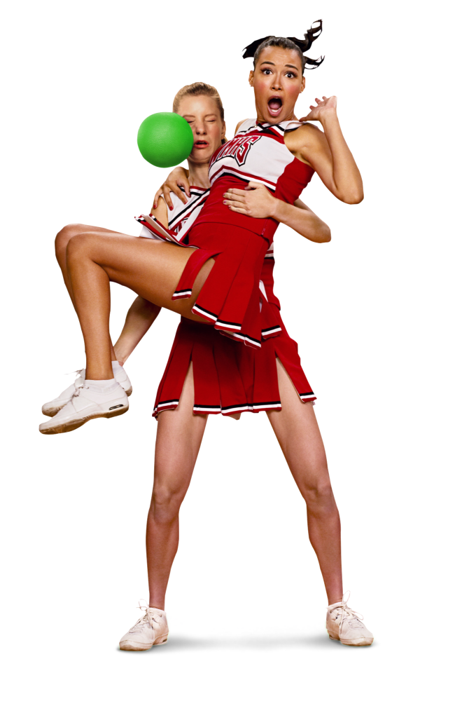 Glee Dodgeball Poses Brittana By Danielmerello On Deviantart