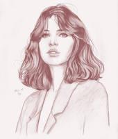 Felicity Jones portrait by prinsepolo