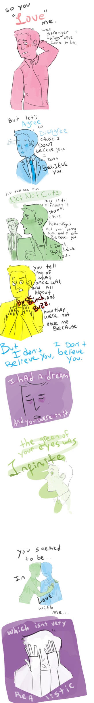 I Dont Believe You by Floral-print-boots