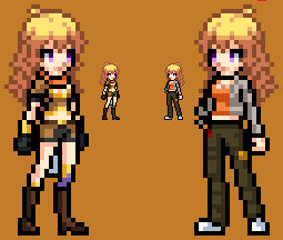 RWBY Yang Xiao Long Sprite by LEANBOOX