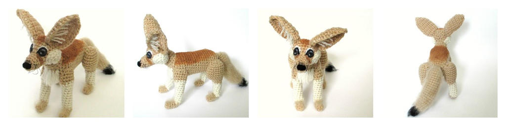 Crochet Fennec Fox Plush by Windowsillcharms
