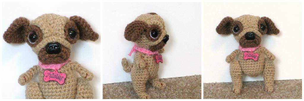 Crochet Pug Doll Paisley by Windowsillcharms
