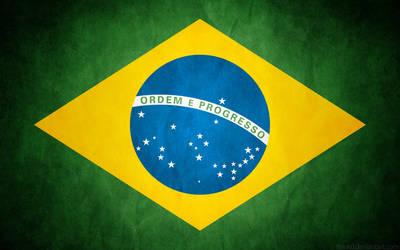 Brazil Grunge Flag - Brasil by think0