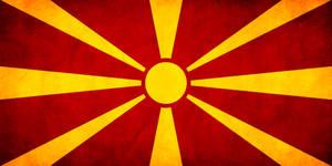 Macedonian Flag Grunge