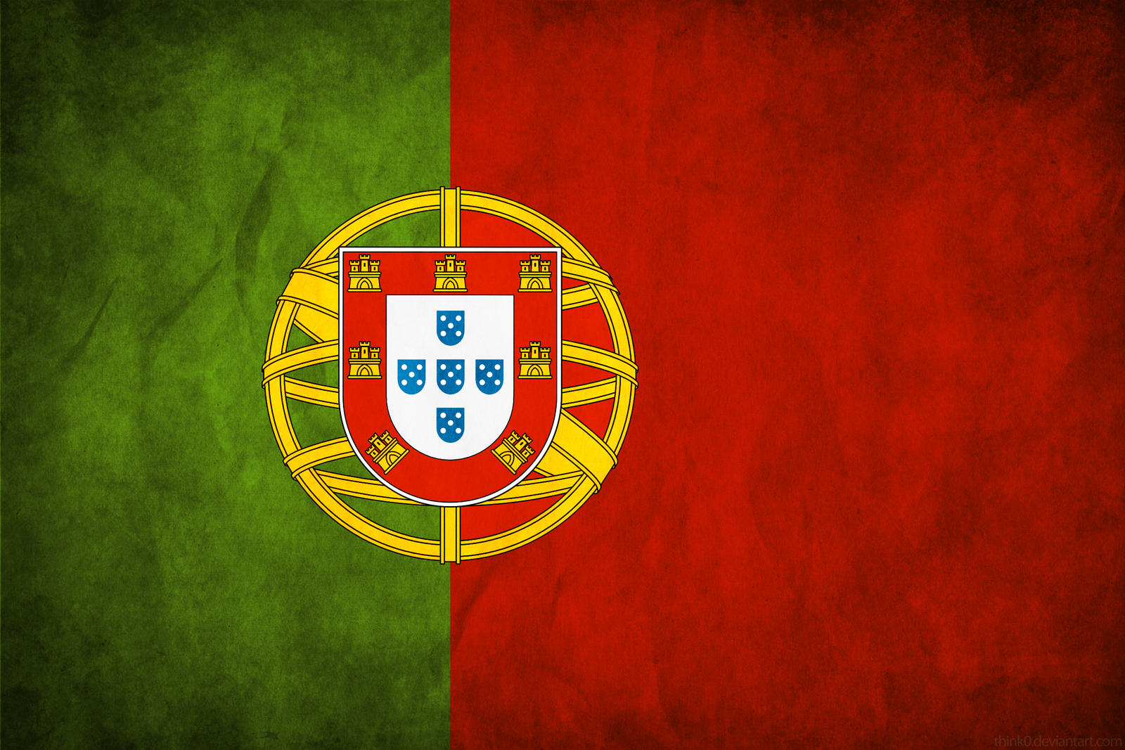 Love Wallpapers In Portuguese : Portugal Grunge Flag by think0 on DeviantArt