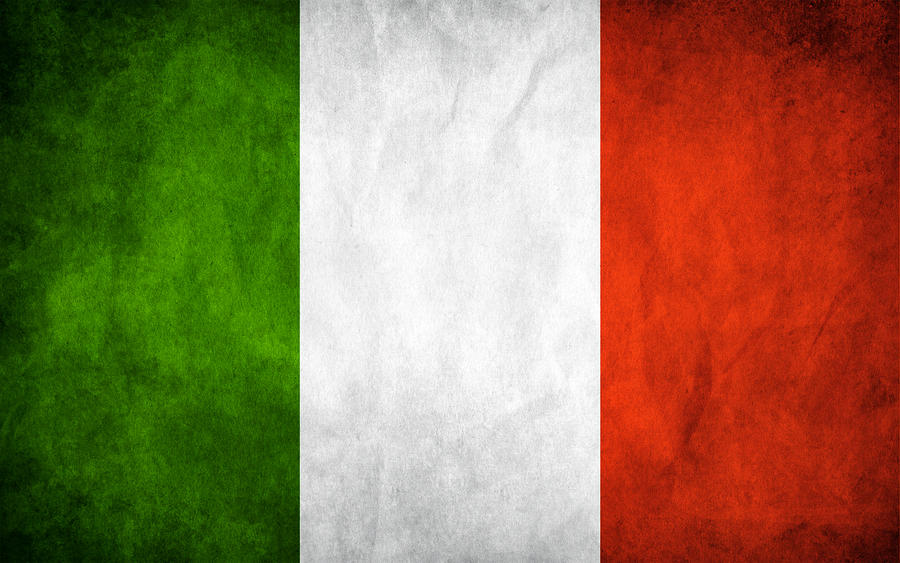 Italy Grunge Flag by think0