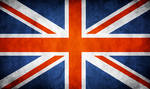 Great Britain UK Grunge Flag by think0