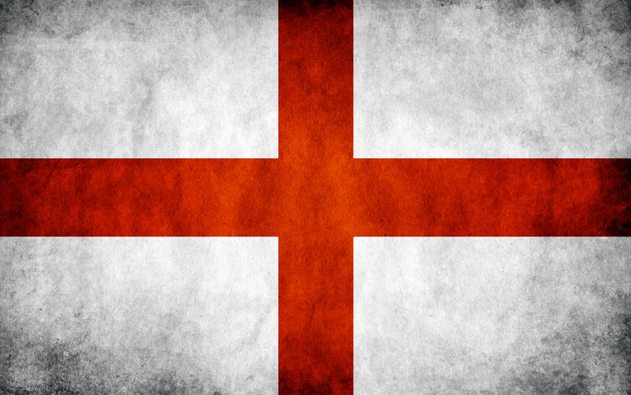 England Grunge Flag by think0