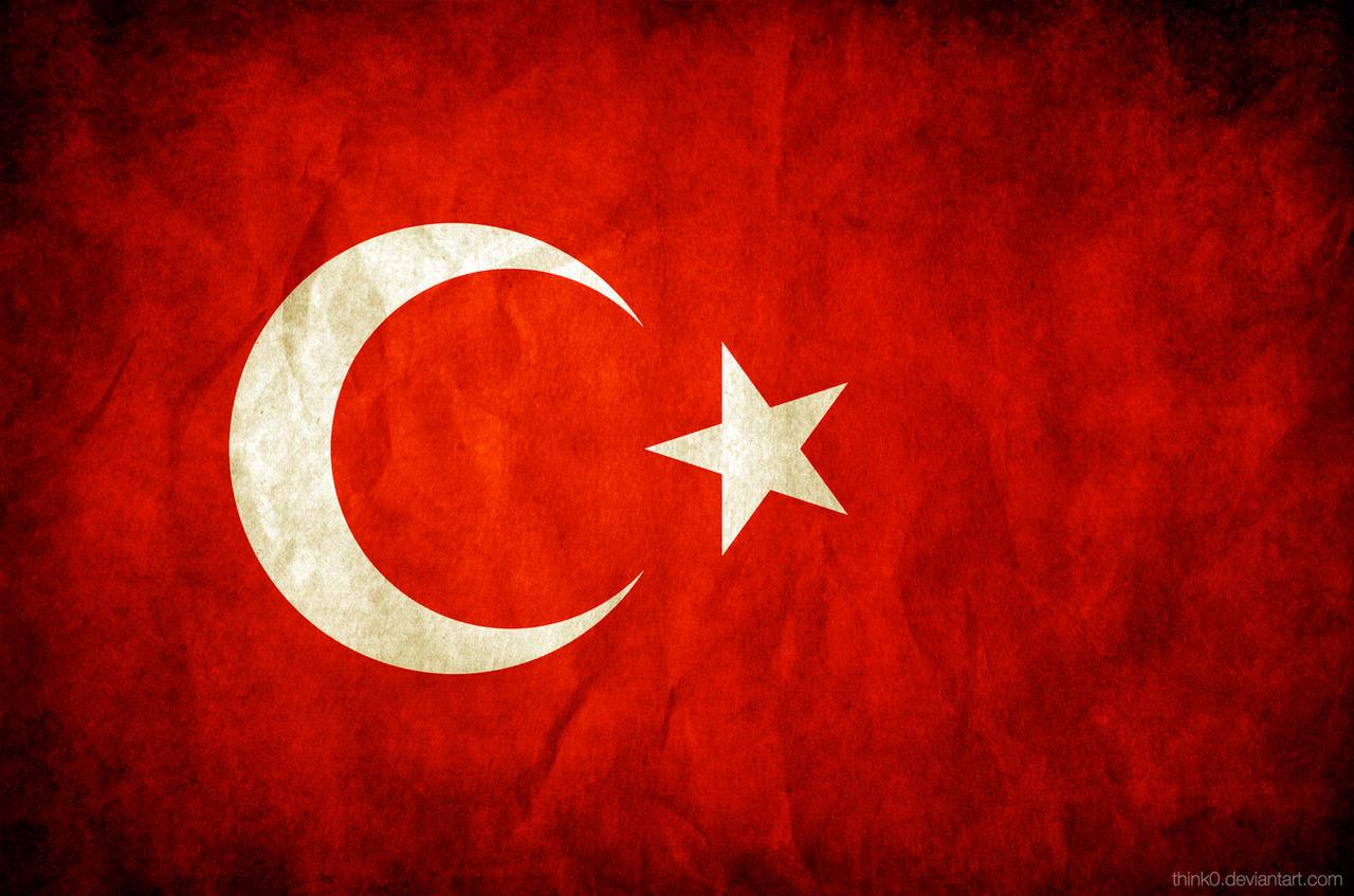 Turkey Grungy Flag by think0