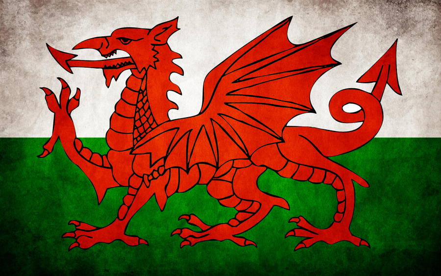 Welsh Grungy Flag by think0