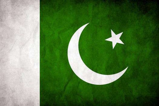Pakistan Grungy Flag