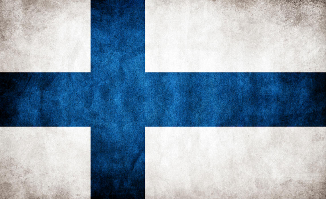Finland Grungy Flag by think0