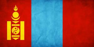 Mongolia Grungy Flag