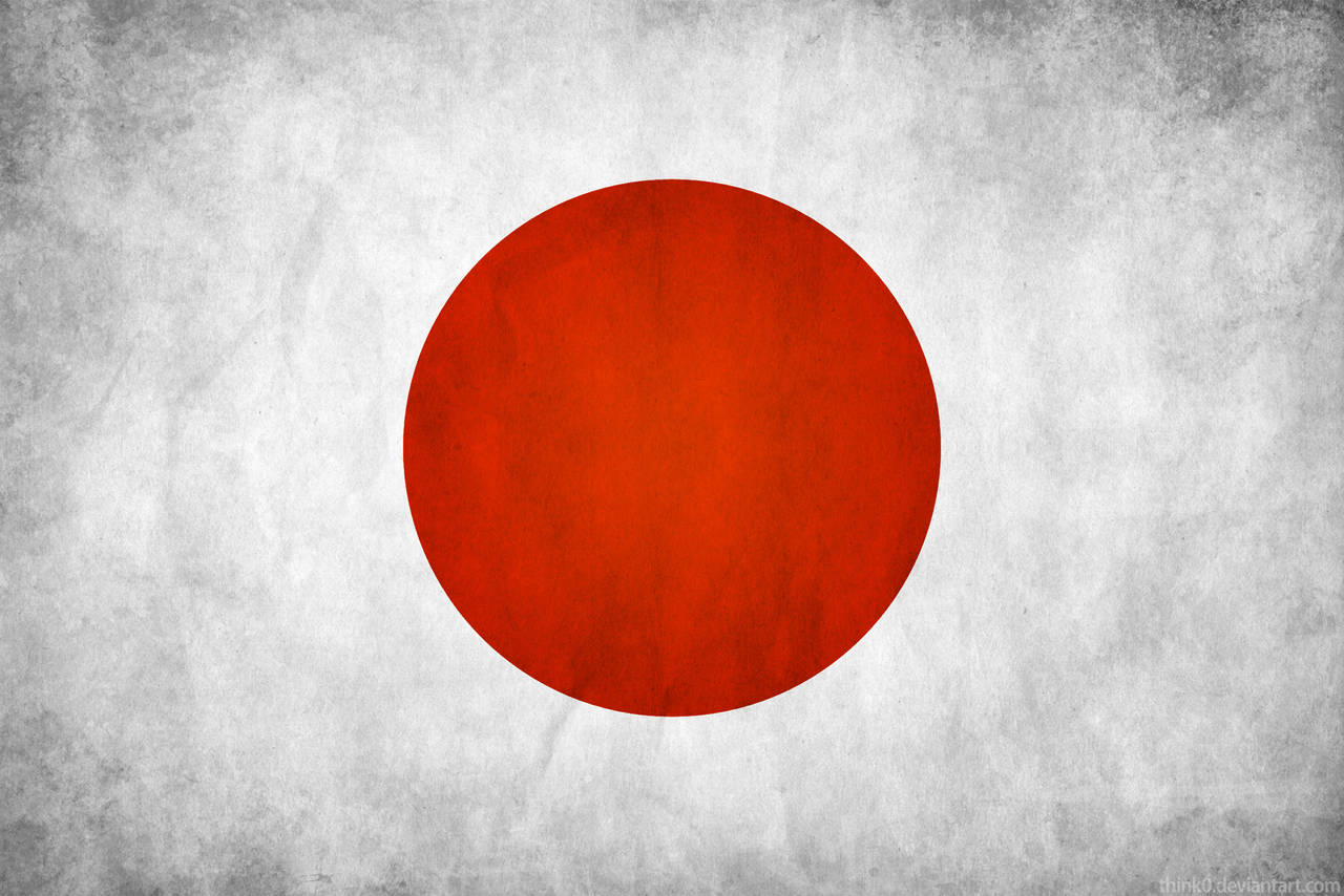 Japan Grunge Flag by think0