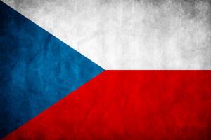 Czech Republic Grunge Flag by think0
