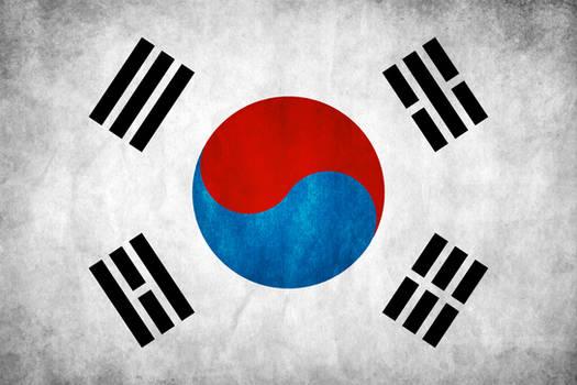 South Korea Grunge Flag