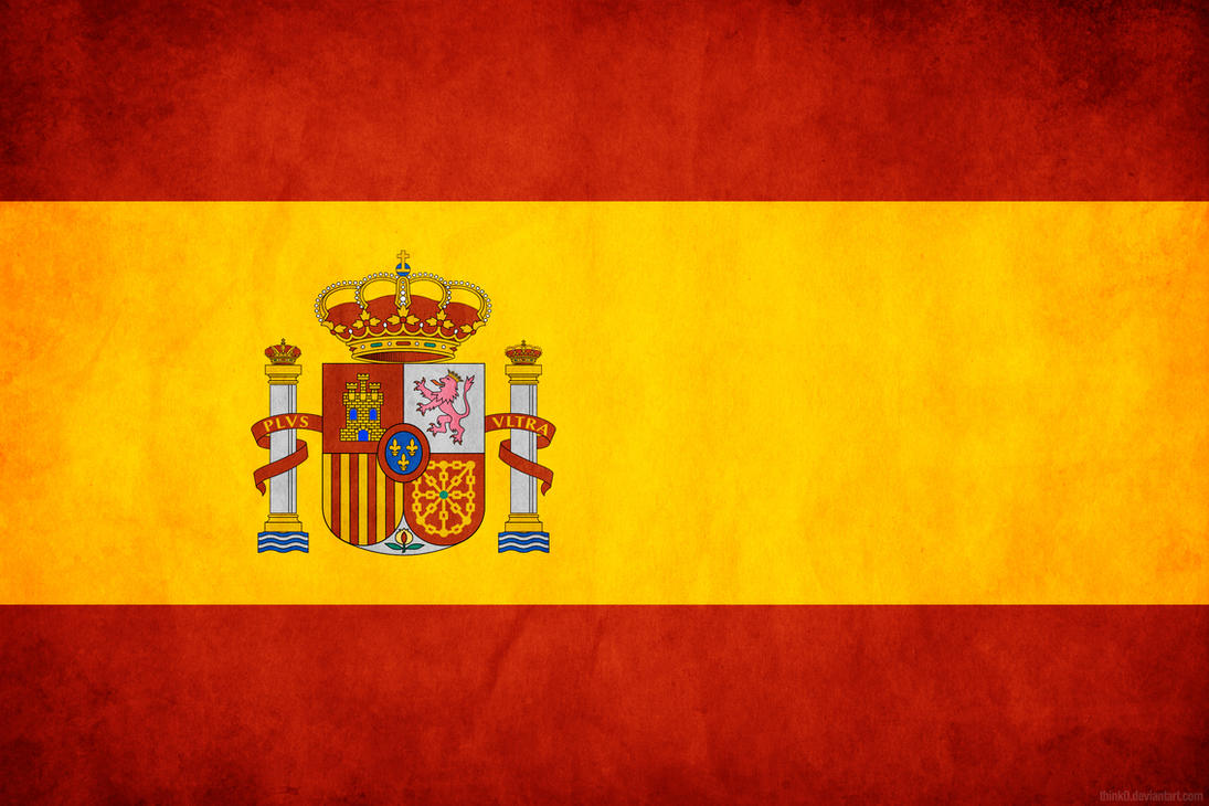 Spain Grunge Flag by think0